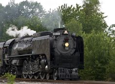 """Union Pacific's Engine No. 844, """"The last of the steam locomotives,"""" is making its way across Missouri."""
