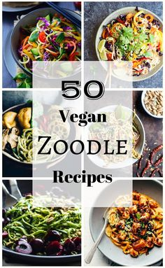 We've scoured the interwebs to find fifty of the most mouth-watering, creative and tasty vegan zoodles recipes and compile them all here in one place!