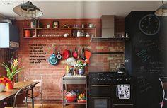 dosseret cuisine brique rouge - Recherche Google