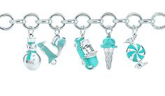 Tiffany Charms♥snowman, scooter, car, cone, sweet