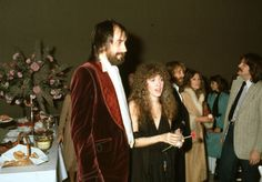 """Mick Fleetwood and Stevie Nicks of the rock group """"Fleetwood Mac"""" attend an event in circa Get premium, high resolution news photos at Getty Images The Rock, Rock And Roll, Rumours Album, Gypsy Moon, Stephanie Lynn, Stevie Nicks Fleetwood Mac, Rock Groups, Her Music, Great Bands"""