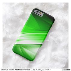 Emerald Fields Abstract Custom iPhone Barely There Custom iPhone 6 Case by BOLO Designs.