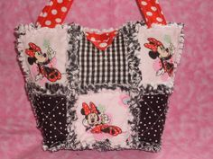Handmade Disney MINNIE MOUSE Rag Quilt Her by ForKeepsBabyBoutique, $23.00