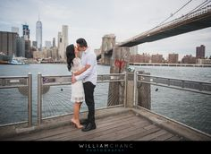 Brooklyn Bridge Park Dumbo engagement photos | Annie + Kevin