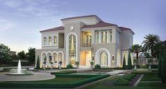 Modern Exterior House Designs, Modern Villa Design, Classic House Design, Dream House Exterior, Dream Home Design, Flat Roof House, Facade House, Morden House, Bungalow House Design