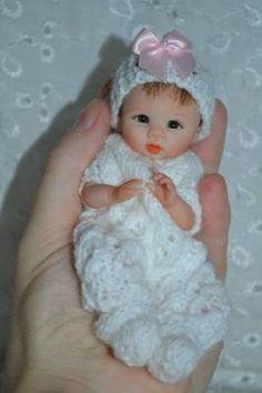 "Original Art OOAK Polymer Clay baby doll girl 5"" Betty  by Yulia Shaver"