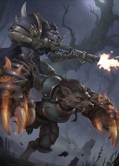 ArtStation - WoW - Zephirya and Devan, Joseph Weston Warcraft Art, World Of Warcraft, Furry Wolf, Furry Art, Of Wolf And Man, Werewolf Art, Mtg Art, Anime Furry, Weird World