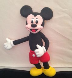 Topo de bolo - Mickey feito em plasticina