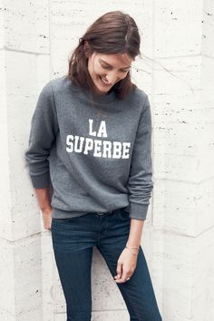 "In a super chouette move, Madewell is letting us shop an item that's become nearly impossible to find in Paris thanks to some major endorsements from international It Girls. The brand's collaboration with Sezane includes several so-simple-it-hurts pieces that'd get constant action in your fall and winter wardrobe, including the La Superbe crewneck sweatshirt that hit a chord with our chic Euro friends (it sold out days after it was first released!). ""Our art director, who hails from France…"