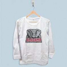 Long Sleeve T-shirt - Alabama Crimson Tide NCAA Logo . The Unique Design And Creative Idea On T Shirt Is Suitable For Buisness ,sport And Others.It Also The Most Sincerely Gift For Your Friend And Family.Product Info Classic fitCrew...