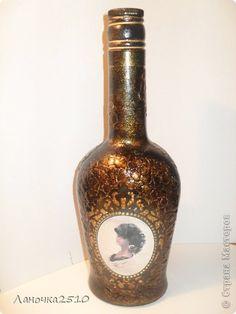 Декор предметов День рождения Декупаж подарок любимому мужчине  +мини МК Бутылки стеклянные фото 1