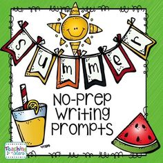 FREE Summer No-Prep Writing Prompts