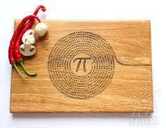 Pi la planche à découper Pi numérique, professeur, cadeau cadeau de Graduation, de cuisine, Science, cadeau de Graduation, mathématiques, billot de bois