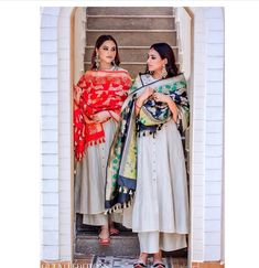 Red and black dupattas with utmost intricate perfection. Pakistani Fashion Casual, Pakistani Dresses Casual, Indian Fashion Dresses, Dress Indian Style, Pakistani Dress Design, Kurta Designs, Kurti Designs Party Wear, Stylish Dress Designs, Stylish Dresses