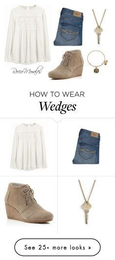 """Untitled #295"" by rocio06morales on Polyvore featuring Abercrombie & Fitch, TOMS, The Giving Keys and Alex and Ani:"