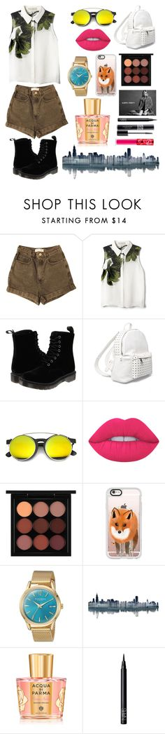 """""""St.Style"""" by karilooks ❤ liked on Polyvore featuring American Apparel, Elle Sasson, Dr. Martens, 7 Chi, ZeroUV, Lime Crime, MAC Cosmetics, Casetify, Akribos XXIV and Alberta Ferretti"""