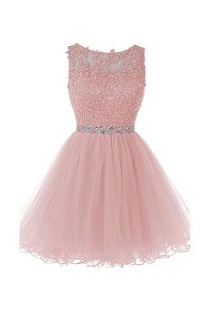 New Arrival Pink Homecoming Dress,Tulle Homecoming Dresses With Lace Appliques,Short Prom Dress,Prom Gown Dama Dresses, Elegant Prom Dresses, Prom Dresses 2018, Pretty Dresses, Evening Dresses, Pink Dresses, Prom Gowns, Sexy Dresses, Beaded Prom Dress
