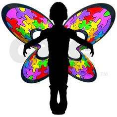 Autistic Butterfly Rectangle Decal on CafePress.com