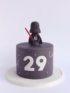 53 Ideas Cake Decorating Ideas For Men Cupcake Toppers For 2019 - Star Wars Cake - Ideas of Star Wars Cake - 53 Ideas Cake Decorating Ideas For Men Cupcake Toppers For 2019 Bolo Star Wars, Star Wars Cake, Star Wars Party, Birthday Cakes For Men, Cakes For Boys, Birthday Cupcakes, Fondant Cakes, Cupcake Cakes, Cupcakes For Men