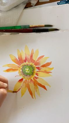 Sunflower Watercolor Painting Free Guide