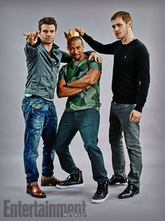 The Originals ... Daniel Gillies, Charles Michael Davis and Joseph Morgan and Daniel Gillies as Elijah, Marcel and Klaus