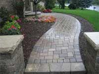 walkway -- love the pillars that highlight the path