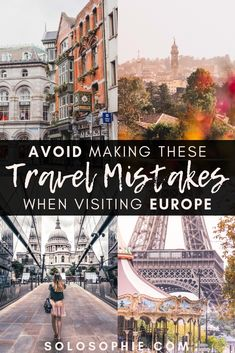 Travel mistakes to a
