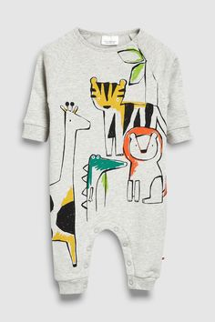 Buy Grey Character Romper from the Next UK online shop Fashion Kids, Latest Fashion For Women, Baby Boy Outfits, Kids Outfits, Kids Prints, Next Uk, Kids Wear, Textiles, Unisex
