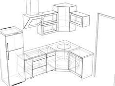 нижний угловой кухонный модуль - Поиск в Google