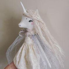 I took the advice of my wonderful followers! Here is my first ghost unicorn. ⭐️✨⭐️ #handmadedoll #unicorndoll