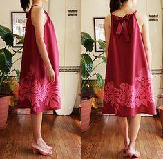 Ohia Lehua Hawaiian Fabric Swing Dress HNLS02415