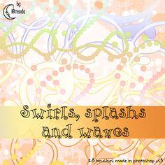 Swirls, splash and waves brush by Coby17.deviantart.com on @deviantART