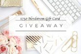 $750 Nordstrom Gift Card Giveaway  Open to: United States Canada Other Location Ending on: 03/20/2018 Enter for a chance to win a $750 Nordstrom Gift Card. Enter this Giveaway at The Styled Fox  Enter the $750 Nordstrom Gift Card Giveaway on Giveaway Promote.