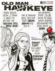 Old Man Hawkeye by Frank Cho