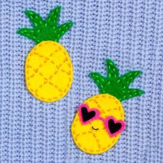 Felt Pineapple Brooch by Doodle and Stitch Blog