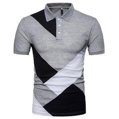 Laamei Men 2018 Summer Fashion Camisa Polo Shirts High Quality Short S – geekbuyig Polo Shirt Brands, Slim Fit Polo Shirts, Short Sleeve Polo Shirts, Mens Polo T Shirts, Camisa Polo, Mens Printed Shorts, Golf Shirts, Men Casual, Mens Tops