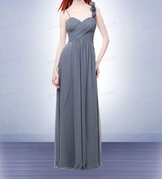 A line sweetheart bridesmaid dress long flower strap by SinnyBox, $97.99