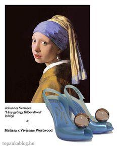 Painting by Johannes Vermeer, shoes by Vivienne Westwood