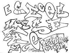 Graffiti-Stil E - writing - Cool Graffiti Letters, Graffiti Alphabet Styles, Graffiti Lettering Alphabet, Graffiti Text, Graffiti Piece, Graffiti Writing, Graffiti Tagging, Graffiti Designs, Graffiti Murals