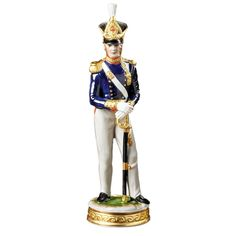 Handmade Handpainted British Soldier Figurines From Germany Are Based On Decorative Themes That Were Particularly Popular In The Century Scully And Scully, Military Figures, British Soldier, Half Dolls, Porcelain, Princess Zelda, Wonder Woman, Hand Painted, Superhero