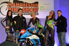 The Principal Girls on stage at the Manchester Bike Show 2014 at Event City. To hire our promo models just email hire@grid-girls.co.uk   Photo by Tanvir Hamid
