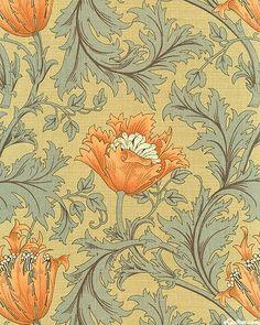 Wildwood Flower - Lt Olive, Morris & Company. Indigo Dreams