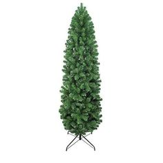 7ft Eco-Friendly Oncor Slim Pencil Pine Christmas Tree * Want to know more, click on the image. (This is an affiliate link)
