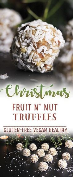Christmas fruit n'nut truffles - naturally #vegan #glutenfree #norefinedsugar