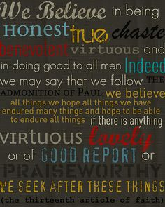 we honestly believe . . .