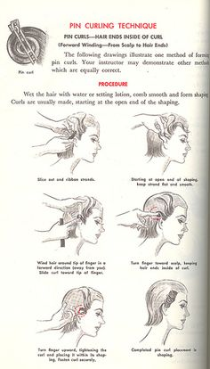How to form pin curls by nurse_marbles, via Flickr