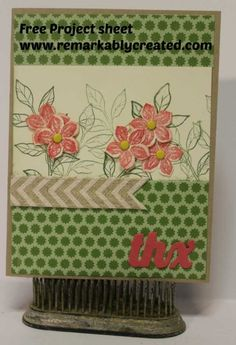 www.remarkablycreated.com 2014 Spring bundles – Petite Petals FREE Project Sheets