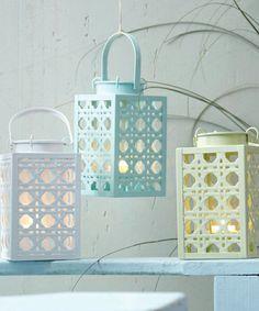 Mellowglow Basket Weave Lantern