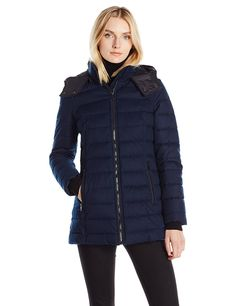 Nautica Women's Hooded Puffer in 'Faux Wool' Fabric * This is an Amazon Affiliate link. You can get more details by clicking on the image.