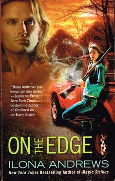 On the Edge (2009) by Ilona Andrews. A fun read with a fascinating secondary world. Finished  6th May 2014, third read.
